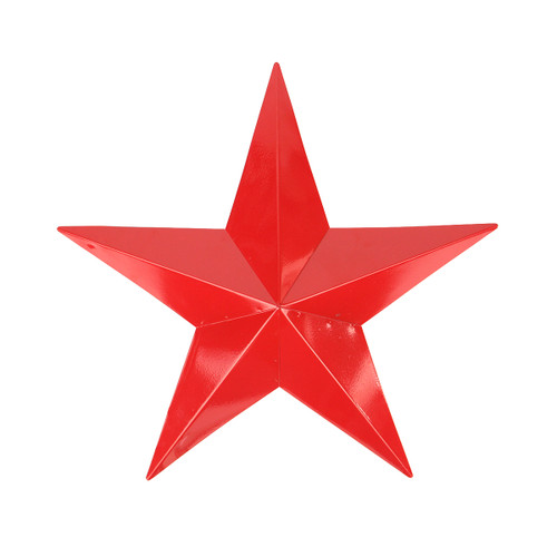 "11.5"" Scarlet Red Country Rustic Star Indoor/Outdoor Wall Decoration - 31393583"