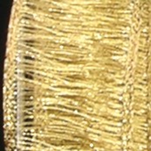 """Shimmering Metallic Gold Mesh Wired Craft Ribbon 1"""" x 54 Yards - 31384690"""