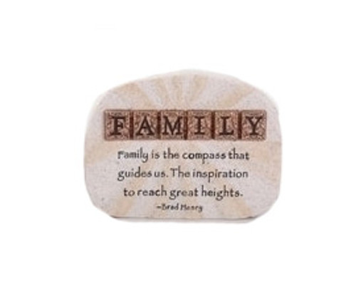 """4"""" Words of Hope Inspirational """"Family"""" Paper Weight Desk Plaque - 31364395"""
