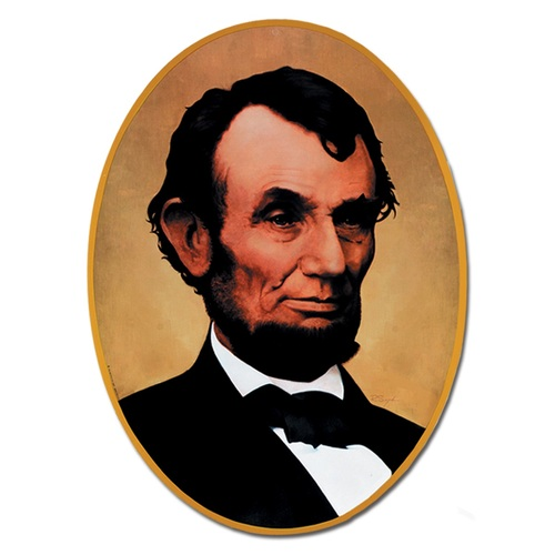 "Club Pack of 12 Back to School Themed President Abraham Lincoln Portrait Cutout Decorations 24.75"" - 31557016"