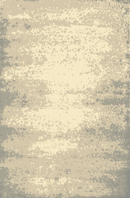 2' x 3' Transient Tide Cool Gray and Cream Hand Knotted Area Throw Rug - 30942635