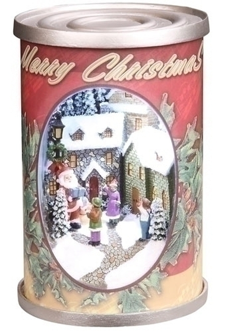 "5"" Retro Santa Claus Antique Christmas Can Decoration - 11075266"