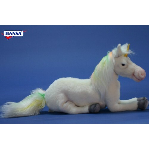 "Set of 2 Life-Like Handcrafted Extra Soft Plush Floppy Unicorn 7.75"" - 31068905"