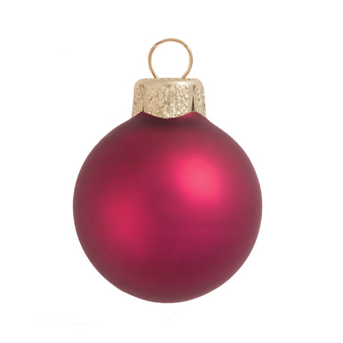 "Matte Soft Berry Glass Ball Christmas Ornament 7"" (180mm) - 30939214"