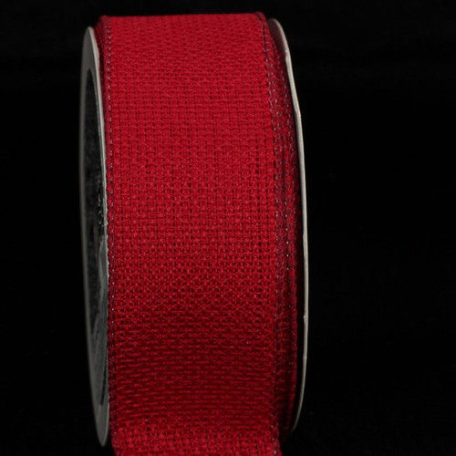 "Pack of 4 Scarlet Red South Oxford Wired Craft Ribbon 1.5""W x 80 Yards - 31390915"