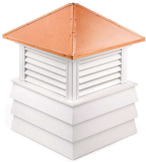 """28"""" Handcrafted """"Dover"""" Copper Roof Vinyl Cupola - 9449884"""