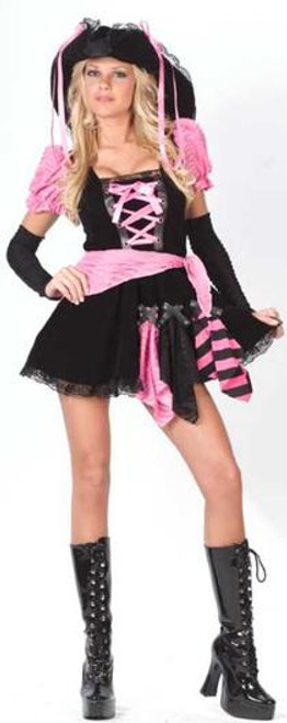 Sexy Pink & Black Punk Pirate Juniors Halloween Costume Size 0-9 #1689 - 6039036