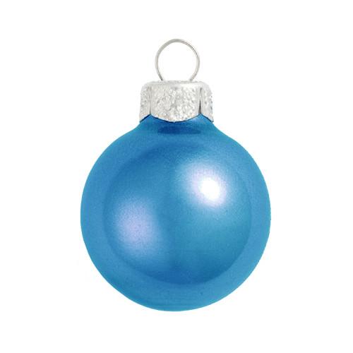 """Metallic Cobalt Blue Glass Ball Christmas Ornament 7"""" (180mm) - 30939264"""