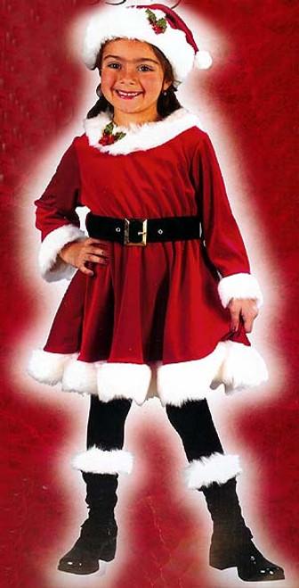 Little Miss Santa 4-Piece Girl's Christmas Costume Size 24 Months - 2T #7568 - 5701221