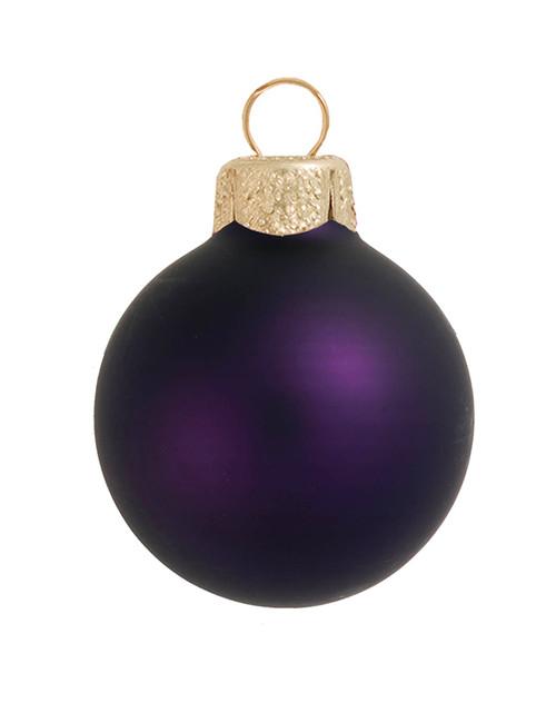 "4ct Matte Purple Glass Ball Christmas Ornaments 4.75"" (120mm) - 30940020"