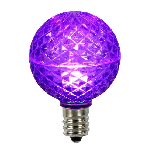 Club Pack of 25 LED G50 Purple Replacement Christmas Light Bulbs - E17 Base - 30861475