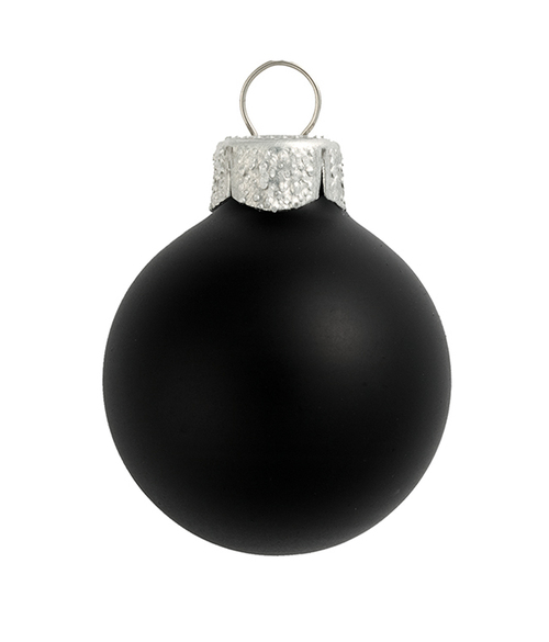 "4ct Matte Black Glass Ball Christmas Ornaments 4.75"" (120mm) - 30939959"