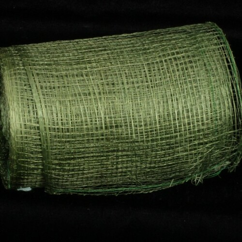 "Hunter Green Sinamay Abacá Fiber Craft Ribbon 5"" x 32 Yards - 31391122"