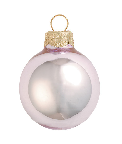 "2ct Shiny Baby Pink Glass Ball Christmas Ornaments 6"" (150mm) - 30940180"
