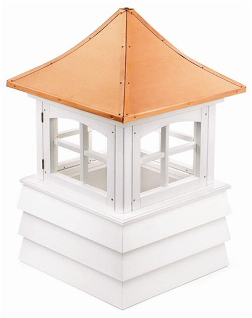 "112"" Handcrafted ""Guilford"" Copper and Vinyl Roof Cupola - 30874453"