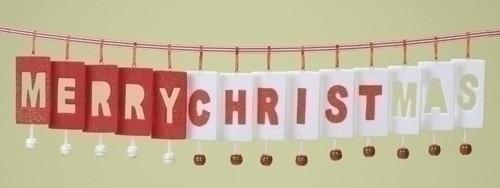 36' Inspirational Merry-Christ-Mas Jingle Bell Christmas Garland - 7396508