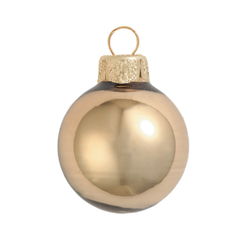 "4ct Shiny Gold Glass Ball Christmas Ornaments 4.75"" (120mm) - 30939991"