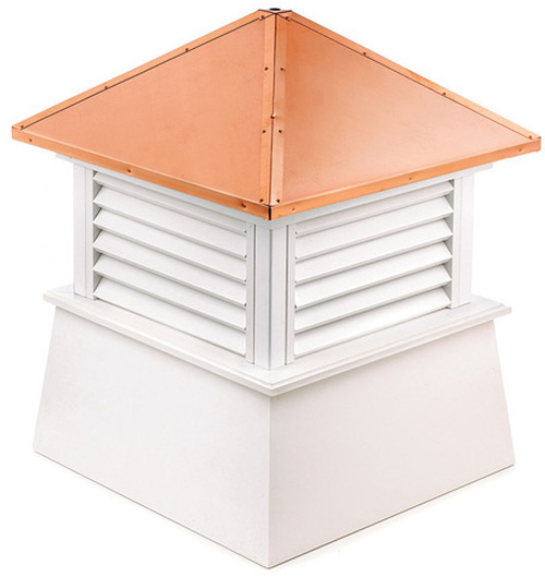 """27"""" Handcrafted """"Manchester"""" Copper Roof Vinyl Cupola - 9449890"""
