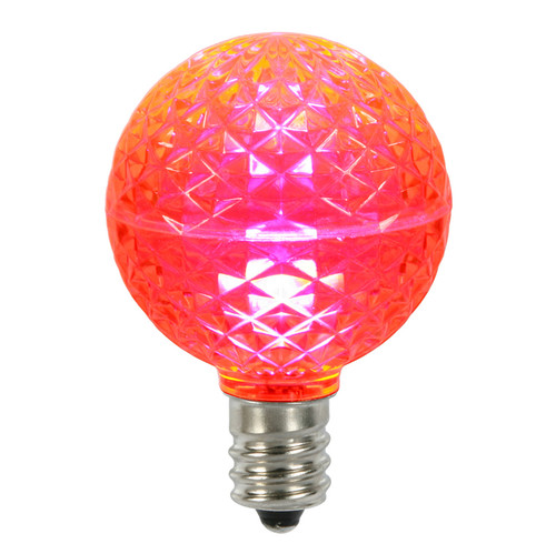 Club Pack of 25 LED G50 Pink Replacement Christmas Light Bulbs - E17 Base - 30861487