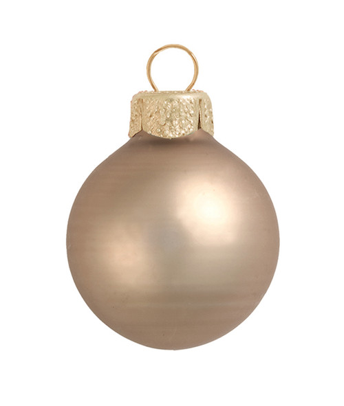 """6ct Matte Antique Gold Glass Ball Christmas Ornaments 4"""" (100mm) - 30939839"""