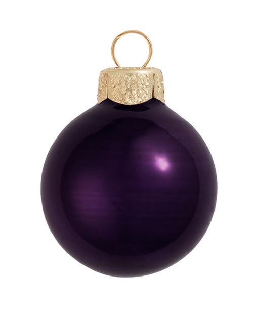 """4ct Pearl Purple Glass Ball Christmas Ornamens 4.75"""" (120mm) - 30940021"""