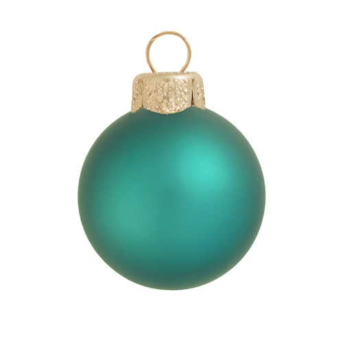 "2ct Matte Turquoise Blue Glass Ball Christmas Ornaments 6"" (150mm) - 30940190"