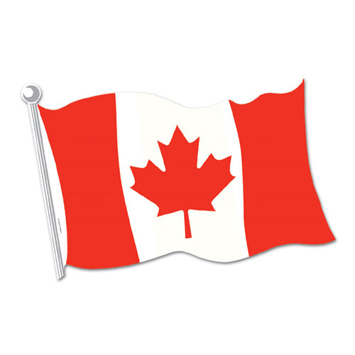 "Club Pack of 24 Red and White Maple Leaf Canadian Flag Cutout Decorations 18"" - 31557049"