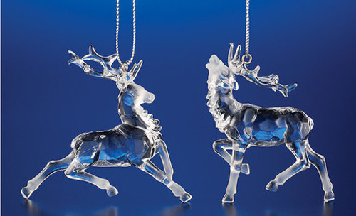 """Club Pack of 48 Icy Crystal Decorative Christmas Reindeer Ornaments 2.8"""" - 31002187"""
