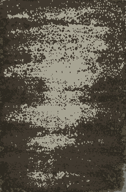 8' x 11' Transient Tide Hunter and Cool Gray Hand Knotted Area Throw Rug - 30942655