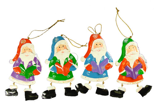 "Club Pack of 192 Santa Claus Caroler Christmas Ornaments 5.5"" - 15761055"