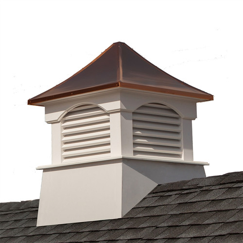"""35"""" Handcrafted """"Coventry"""" Copper Roof Vinyl Cupola - 9449894"""