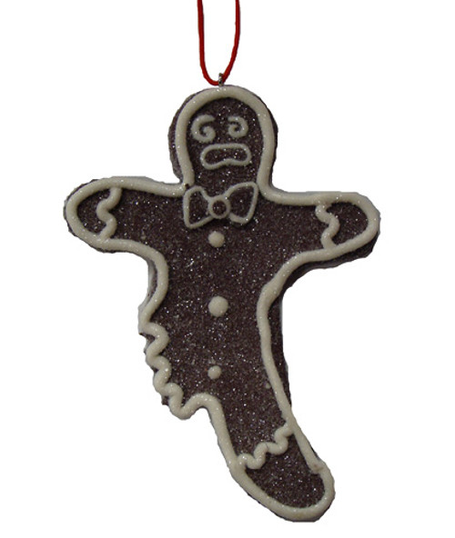 Sweet Memories Sugared Gingerbread Man Cookie w/ No Right Leg Christmas Ornament - 16459844