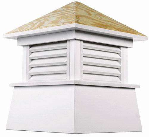 """46"""" Handcrafted """"Kent"""" Wood and Vinyl Roof Cupola - 9449924"""