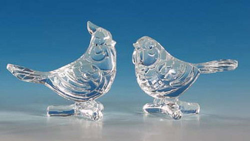 """Club Pack of 12 Icy Crystal Decorative Clear Birds Figurines 3"""" - 31002313"""