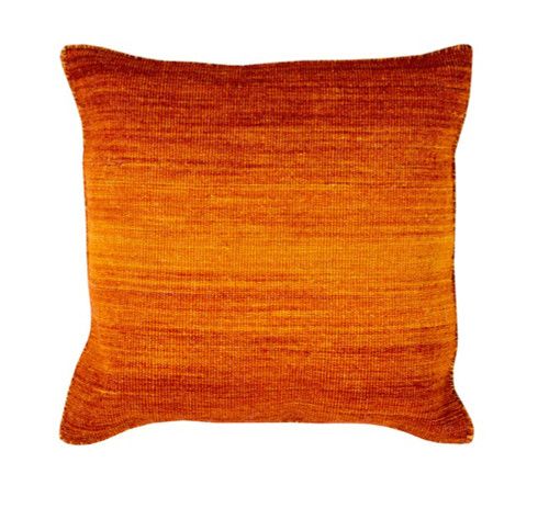 "20"" Ombre Ambience Cadmium Orange, Dark Pastel Red and Amber Decorative Throw Pillow - Down Filler - 31503958"