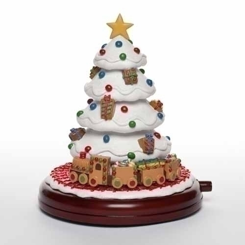 """7"""" Sweet Memories Animated Musical Gingerbread Train & Christmas Tree Decoration - 15619838"""