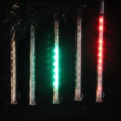 "Snowfall - Set of 5 Double-Sided 33.5"" LED Christmas Icicle Light Tubes - Multi - 30852073"