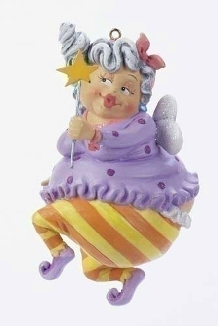 Pack of 6 Over the Hill Happy Birthday Fairy Christmas Ornaments - 6389199