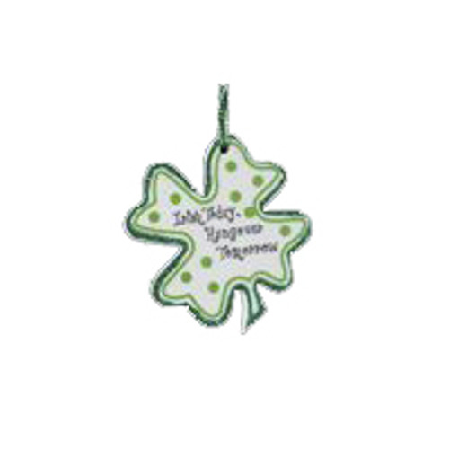 "Luck of the Irish ""Irish Today, Hungover Tomorrow"" Shamrock Christmas Ornament - 11146233"