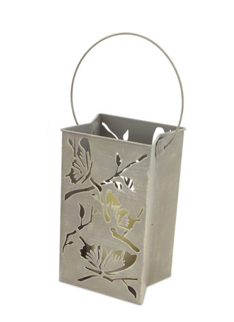 """9"""" Battery Operated LED Flameless Candle Outdoor Lawn Stake Luminary with Butterfly Motif - 31356148"""