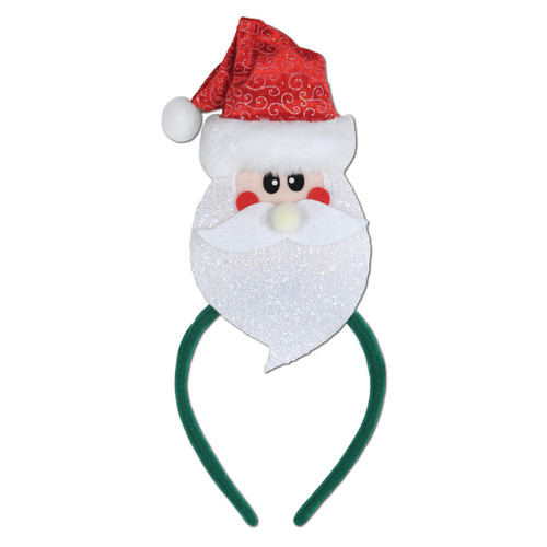 Pack of 12 Santa Claus Snap-on Christmas Headbands One Size Fits Most - 31561464