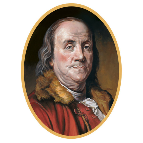 "Club Pack of 12 Presidential Portrait of Benjamin Franklin Double- Sided Cutout 24.75"" - 31558638"