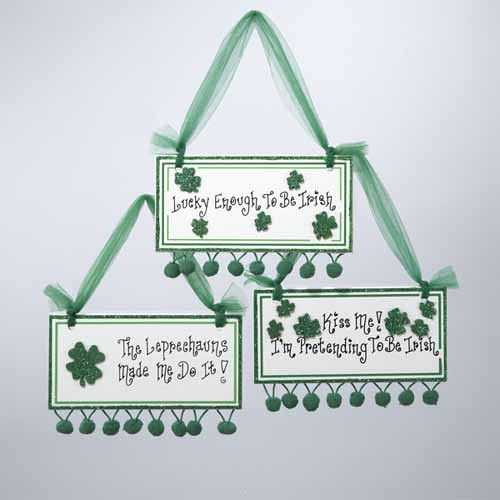 """Luck of the Irish """"Lucky Enough To Be Irish"""" Plaque Christmas Ornament - 11146225"""