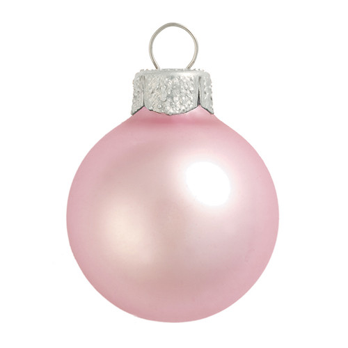 "4ct Matte Baby Pink Glass Ball Christmas Ornaments 4.75"" (120mm) - 30940061"