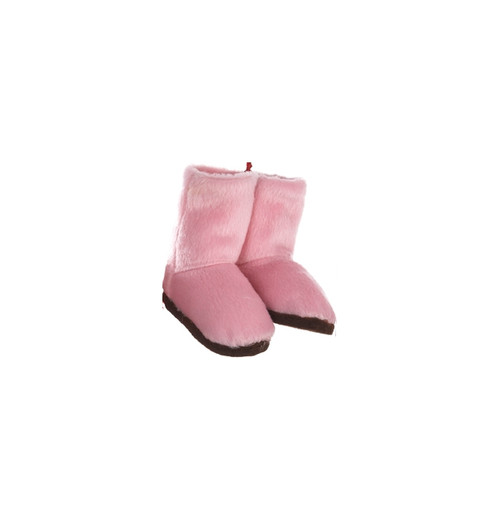"""3"""" Fashion Avenue Pink Plush Winter Boots with Brown Soles Christmas Ornament - 30839262"""