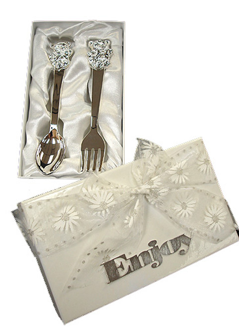 2-Piece Sweet Expressions Baby Spoon & Fork Set - Gift Boxed - 5907879