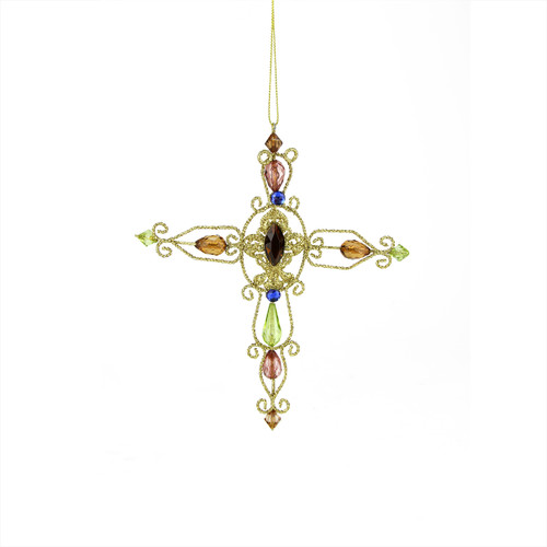 """7"""" Victorian Inspirations Oval Center Wire Cross Christmas Ornament - 30789988"""