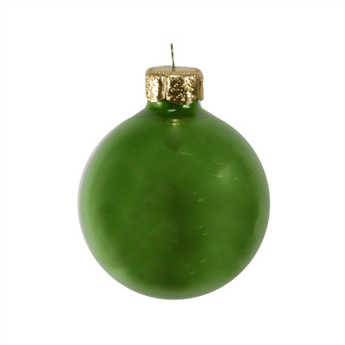 """40ct Pearl Soft Green Glass Ball Christmas Ornaments 1.5"""" (40mm) - 30939457"""