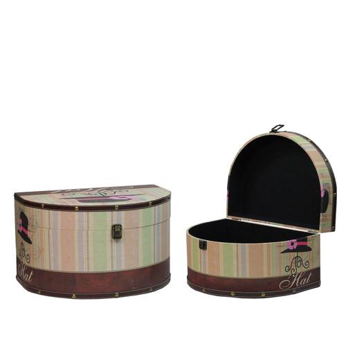 wood hat storage set of 3 vintage style stiletto decorative wooden storage boxes 10