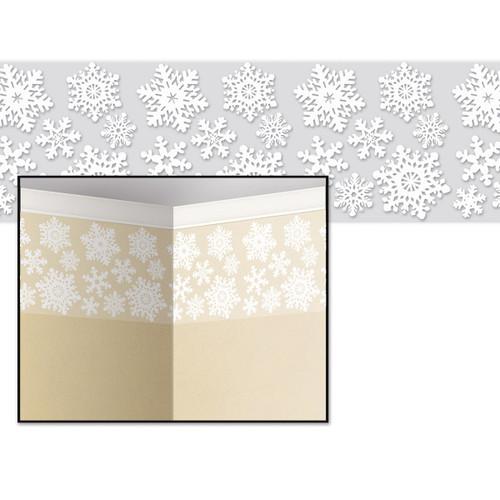 "Pack of 6 Christmas Holiday Decorative Snowflake Border 24"" x 30' - 31560876"